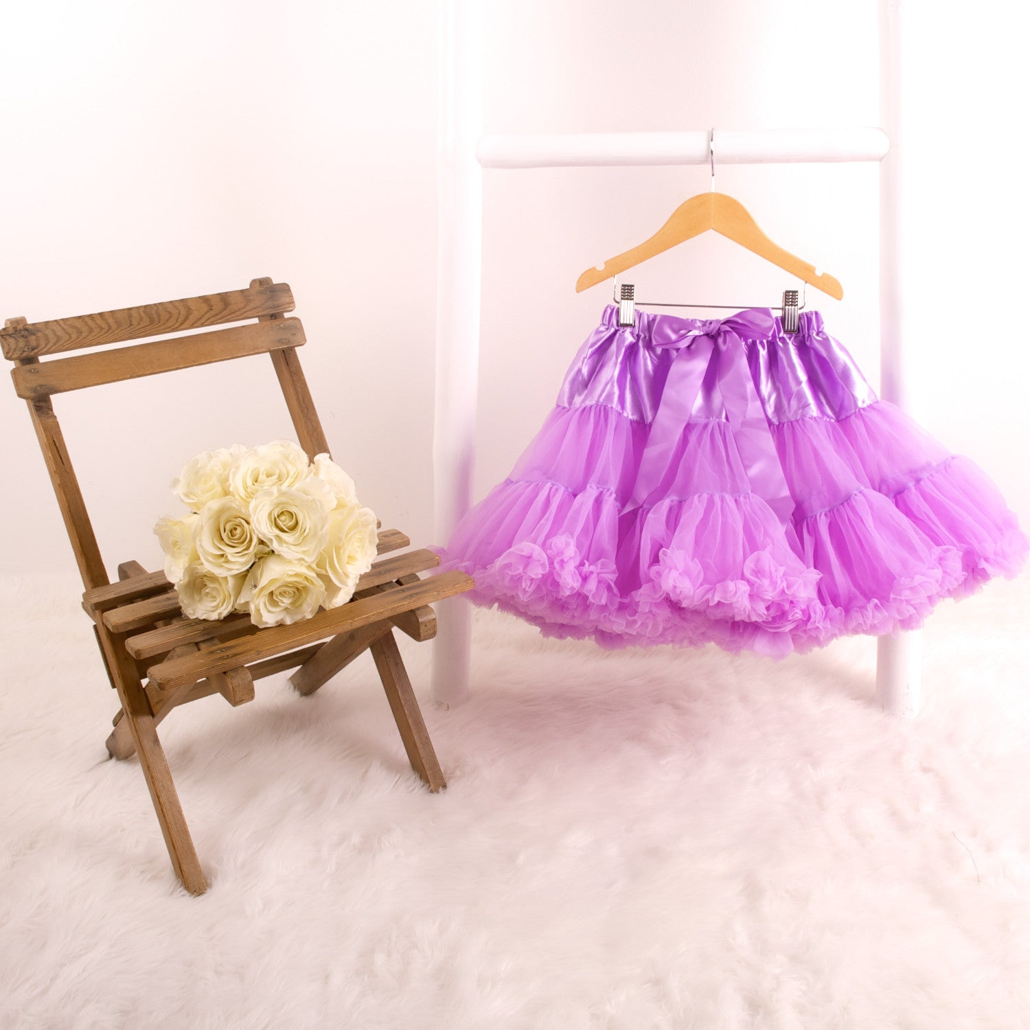 Candy Bow Pettiskirt Soft Grey Medium Large Tutu Party Fluffy Soft Tulle Gift