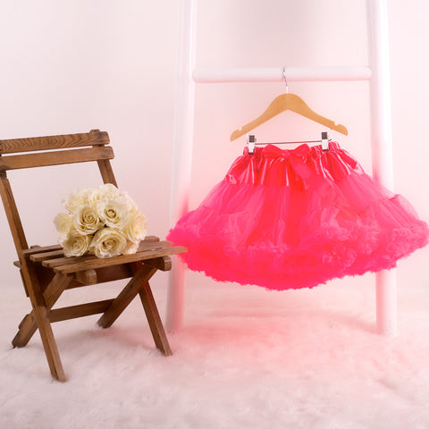 pettiskirt tutu neon pink halloween out fit dress up candy bows angels face bob and blossom miss francis petticoat underskirt