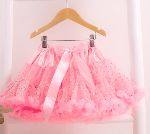 pettiskirt tutu sparkle shimmer sequin pink candy bows angels face bob and blossom miss francis petticoat underskirt