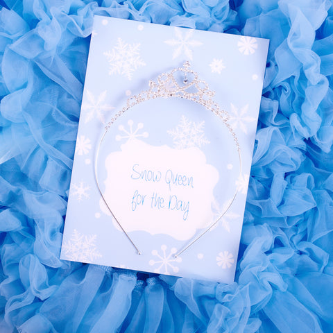 """Snow Queen""  Diamante Tiara with Gift Card"