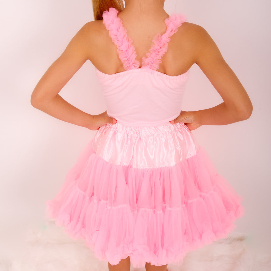 999ed741d8ad55 ... pettiskirt top ruffle top hot pink petticoat outfit angles face bob and  blossom ...