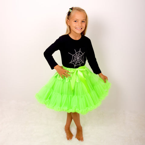pettiskirt tutu neon green halloween out fit dress up candy bows angels face bob and blossom miss francis petticoat underskirt