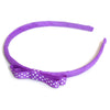 purple headband teeny tiny gingham dots spots hairbows hair accessories school hair bows hair clip headband candy bows