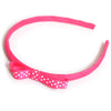 shocking pink headband teeny tiny gingham dots spots hairbows hair accessories school hair bows hair clip headband candy bows