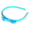 turquoise headband teeny tiny gingham dots spots hairbows hair accessories school hair bows hair clip headband candy bows