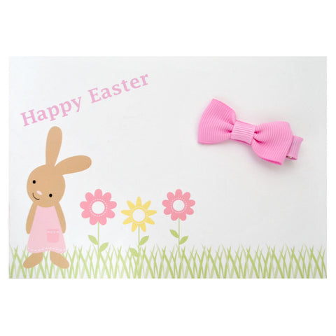 Easter Bunny Gift Card with Mini Bow Clip