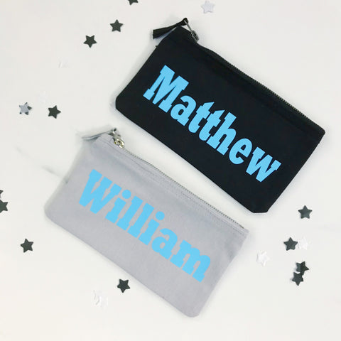 Boys Personalised Pencil Case