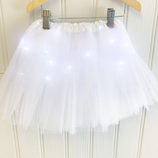 Halloween LED Light Up Tutu - White