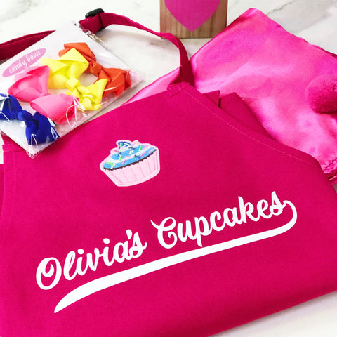 Childrens Personalised Cupcake Apron