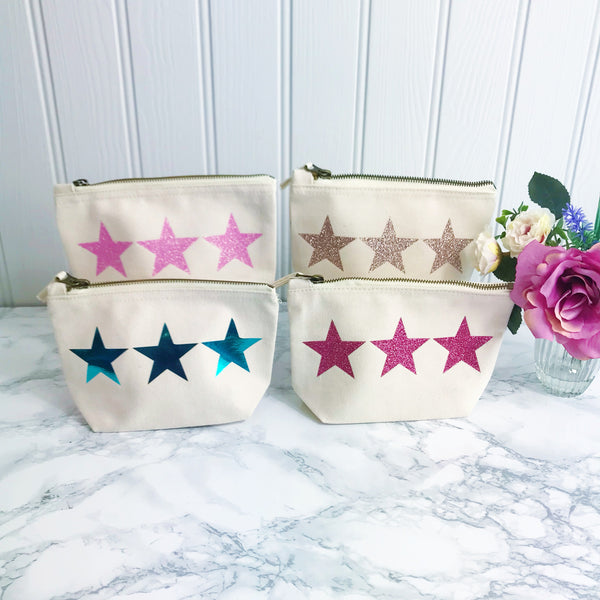 Sparkle Star Make Up Toiletries Bag - Perfect Gift for Girls Mums &  Friends