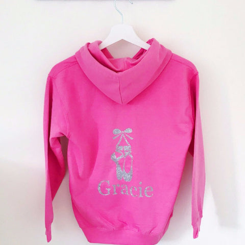 Girls' Dance Personalised Hoodie  (5 colours available)