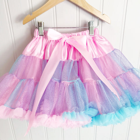 Enchanted Mix Shimmer Pettiskirt & Satin Bow