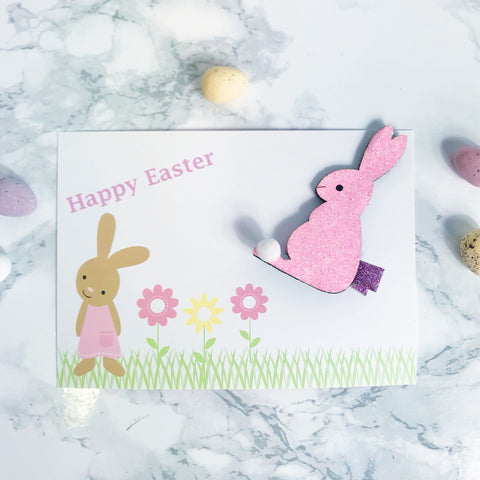 Sparkly Easter Bunny Clip and Gift Card