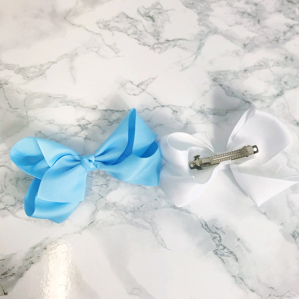 Boutique Hair Bow - Solid colours - On Barette French Clip