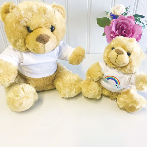 Cheerful Rainbow Personalised Candy Teddy Bear
