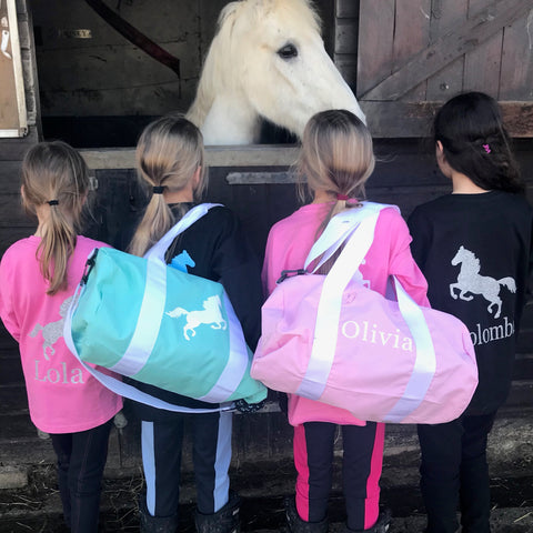 Girls' Horseriding Personalised Activity Bag  - (5 colours available)