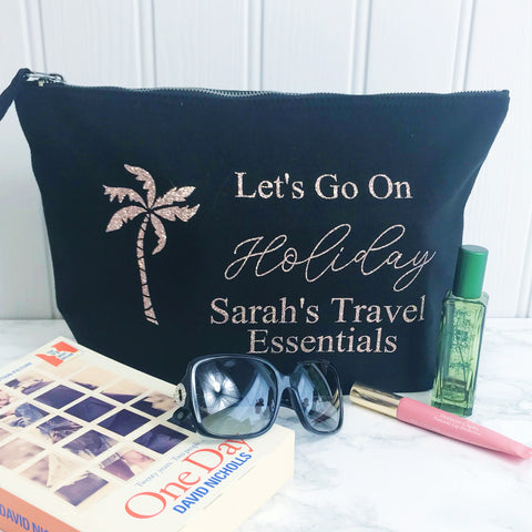 Personalised Holiday Make Up & Toiletries Bag