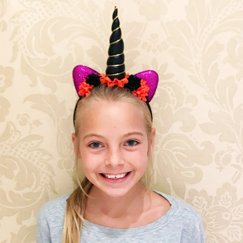 Mystical Halloween Unicorn Headband