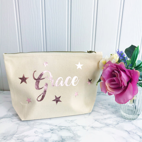 Personalised Star Make Up Toiletries Bag - Perfect Gift for Girls Mums &  Friends