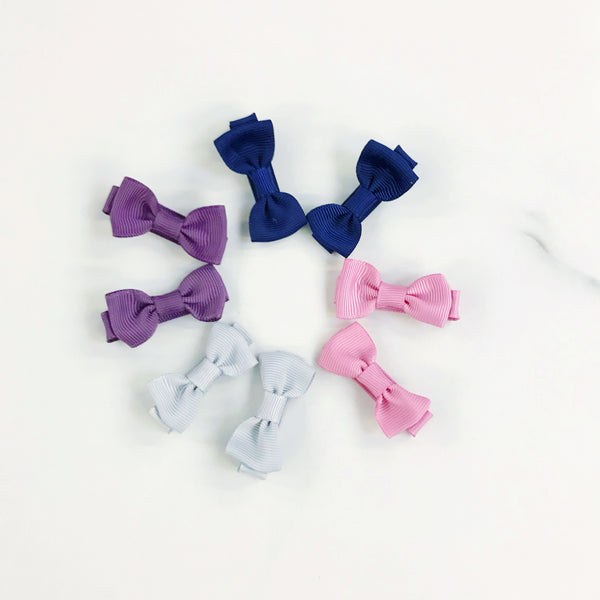 Mini Bow Hair Clips - PAIRS