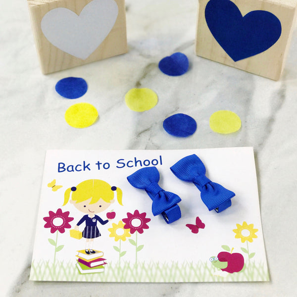 Back to School Gift Card and Pair of Mini Bow Clips