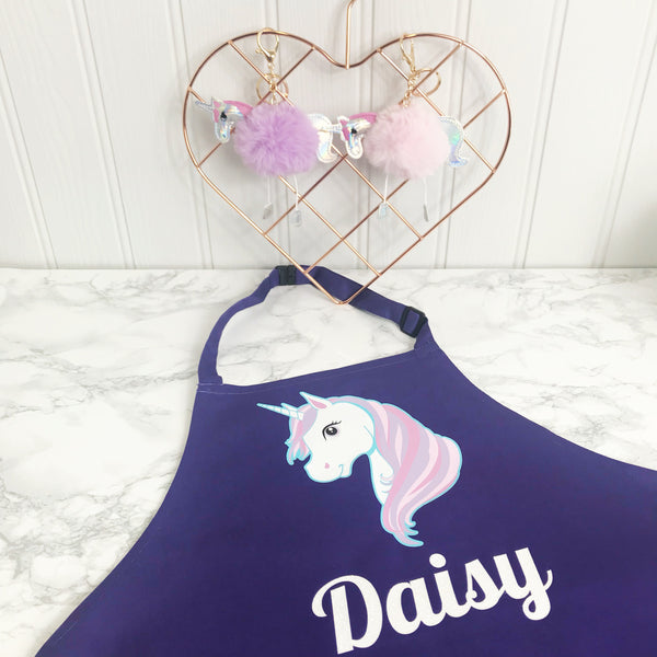 Unicorn Childrens Personalised  Apron