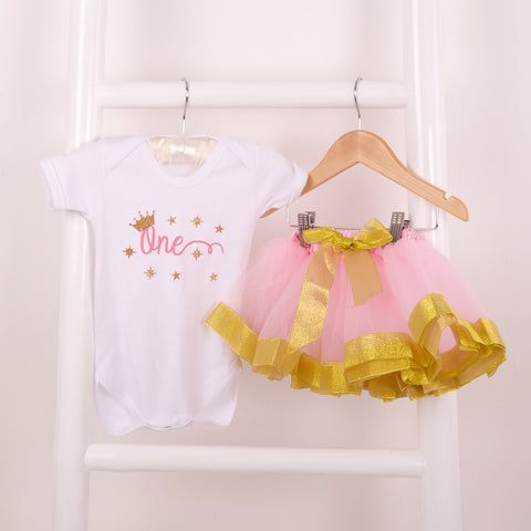 Baby Gold Satin Edge Tutu