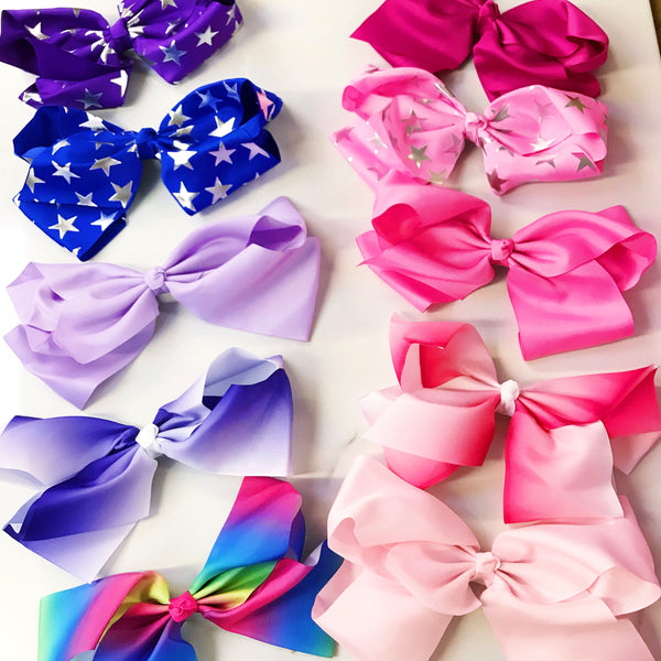 GRAB BAG of Candy Bows 6 Extra Large Dance Bow 8""
