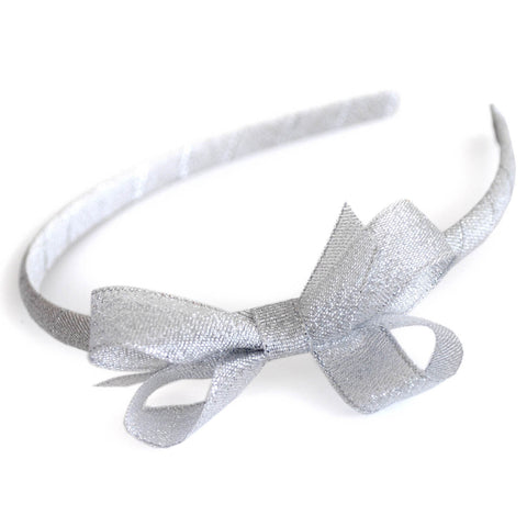 girls hair accessory sparkly silver gold headband hair bows alice bands candy bows