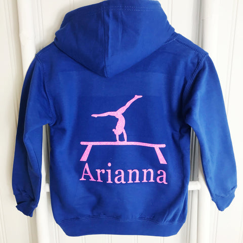 Girls' Gymnastics Personalised Hoodie  (7 colours)