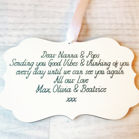 Personalised Glossy Ornaments  - Perfect for Lockdown Gift