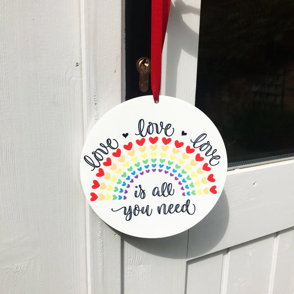 Personalised Outdoor & Weatherproof Rainbow Ornaments  - Perfect for Lockdown Gift