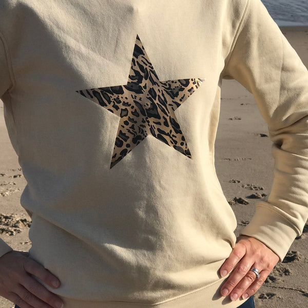 Limited Edition Ladies and Girls Leopard Star Organic Sweatshirt
