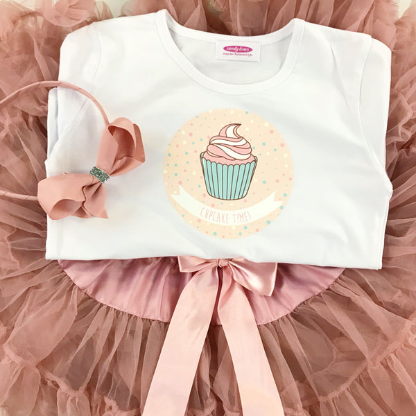 Moonstone Pettiskirt & Cute Cupcake T Shirt GIFT SET