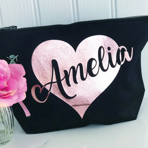 Personalised Make Up Toiletries Bag - Perfect Gift for Girls Mums &  Friends
