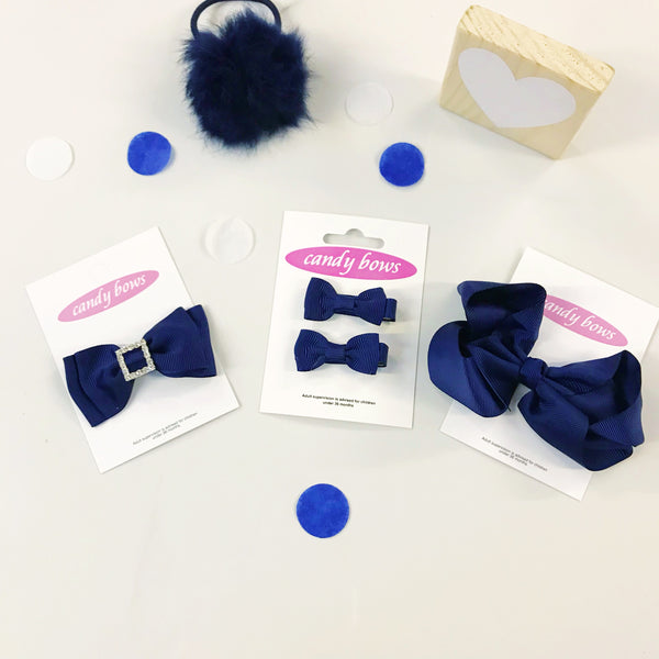 Navy Mixed Bow Gift Set - 4 items
