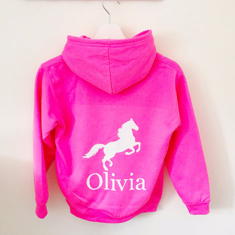 Girls' Horse Riding Personalised Hoodie  (4 colours)