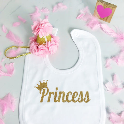 Baby Girls Personalised Cute Baby Bib
