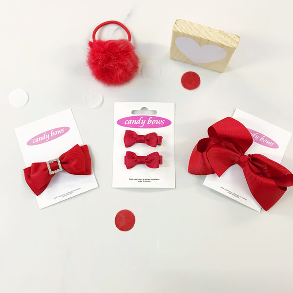 Red Mixed Bow Gift Set - 4 items