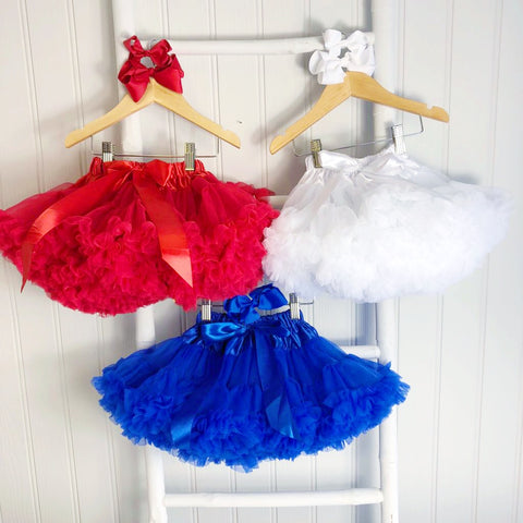 White Pettiskirt Tutu & Satin Bow
