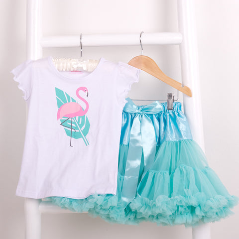 Girls Tropical Flamingo T -shirt - available Long or short sleeve