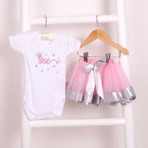 Ex Display Baby Silver Satin Edge Tutu