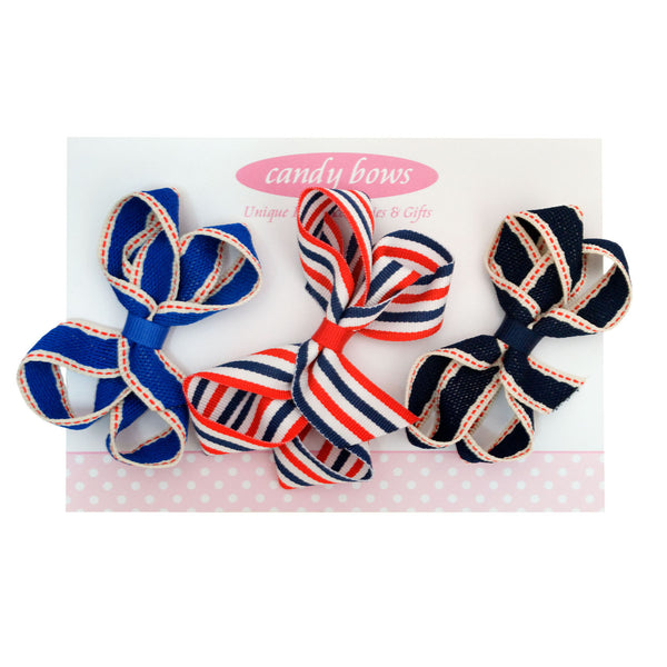 candy bows hair bows, stripe bows, stripey, bobbles, baby bands, hair accessories bows, stretchy baby headbands, felt bows, hair bobbles, hair clip hand tied hair bows sparkly hair bows