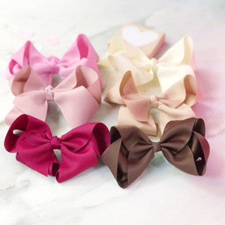 Girls Large Boutique Bow -  Set of 6 Party Bag Fillers