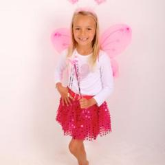 Hot Pink Fairy Spakle Tutu & Wings Set