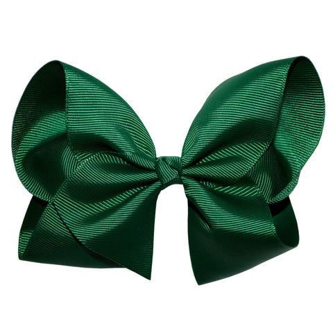 Boutique Hair Bow - Solid colours- Shades of Green and Yellows