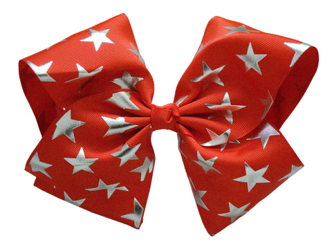 jojo dance cheer hair bow star 8 inch bow red