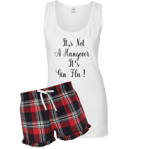 Ladies Weekend Recovery Prosecco & Gin Short Pyjamas With Vest Top