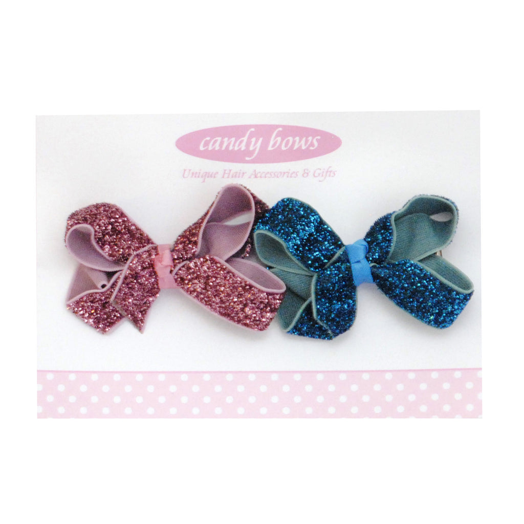 Unicorn Hair Bow Set Glitter Hair Bow Birthday Stocking Fillers Party Bags