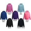 Girls Super Star Personalised Hoodie In Range of Colours